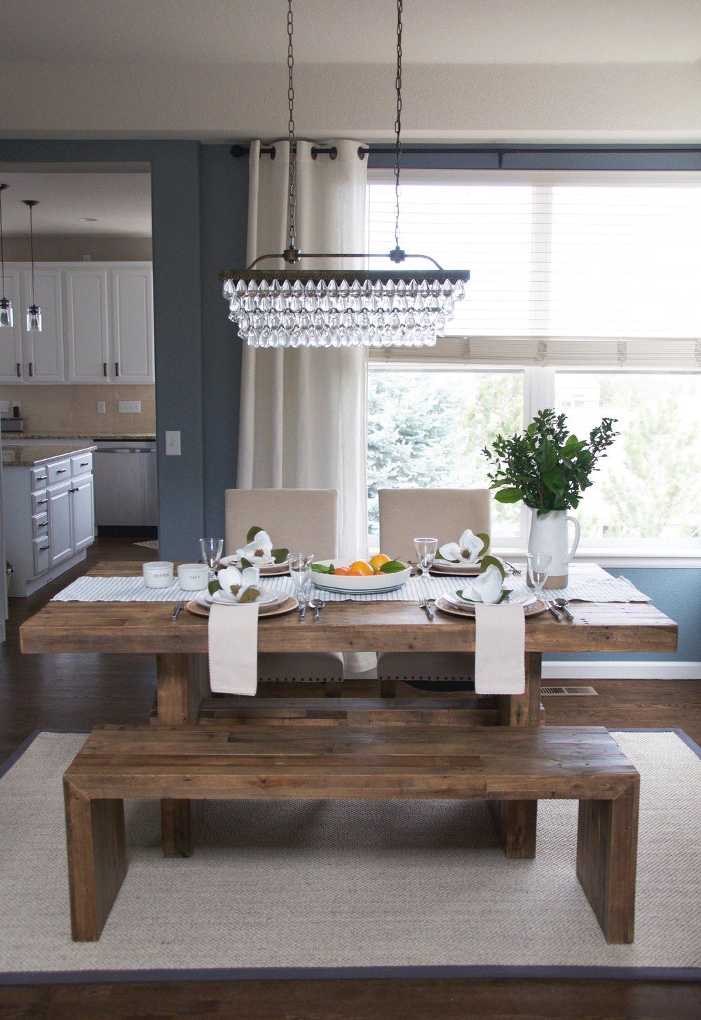 www.basilandtate.com | farmhouse formal dining room