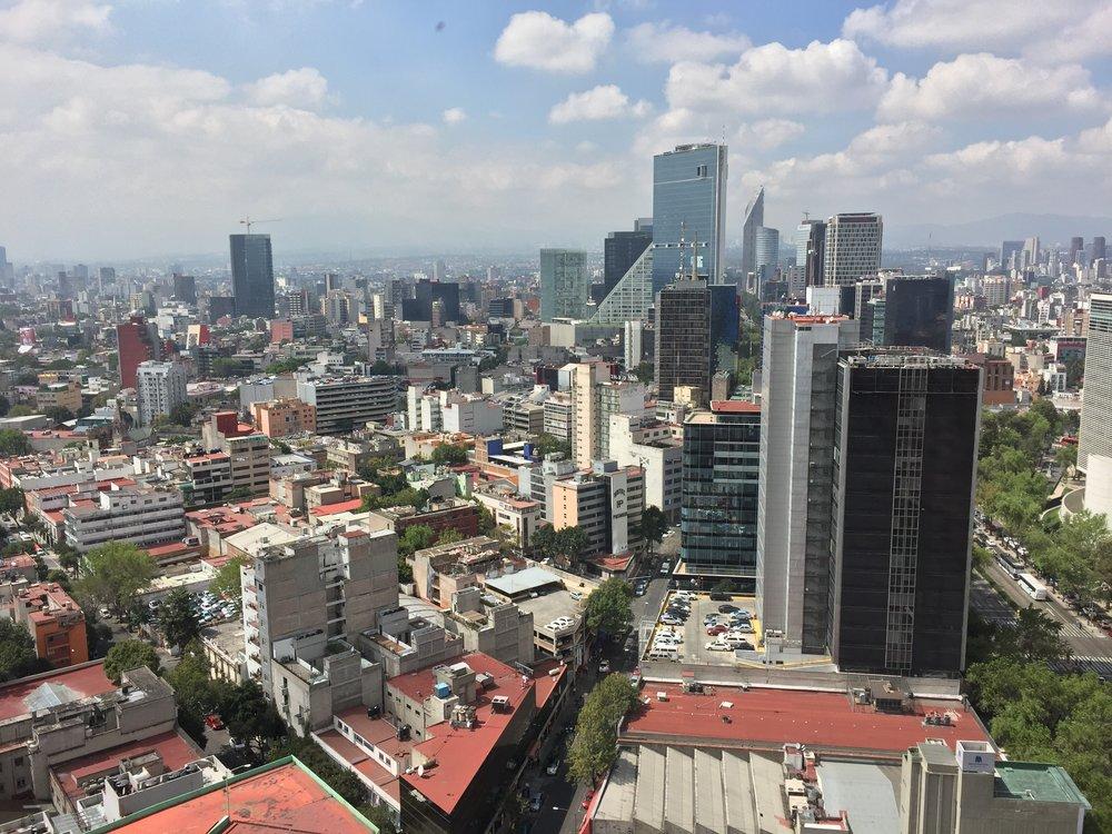 Mexico City skyline by Insurgentes.