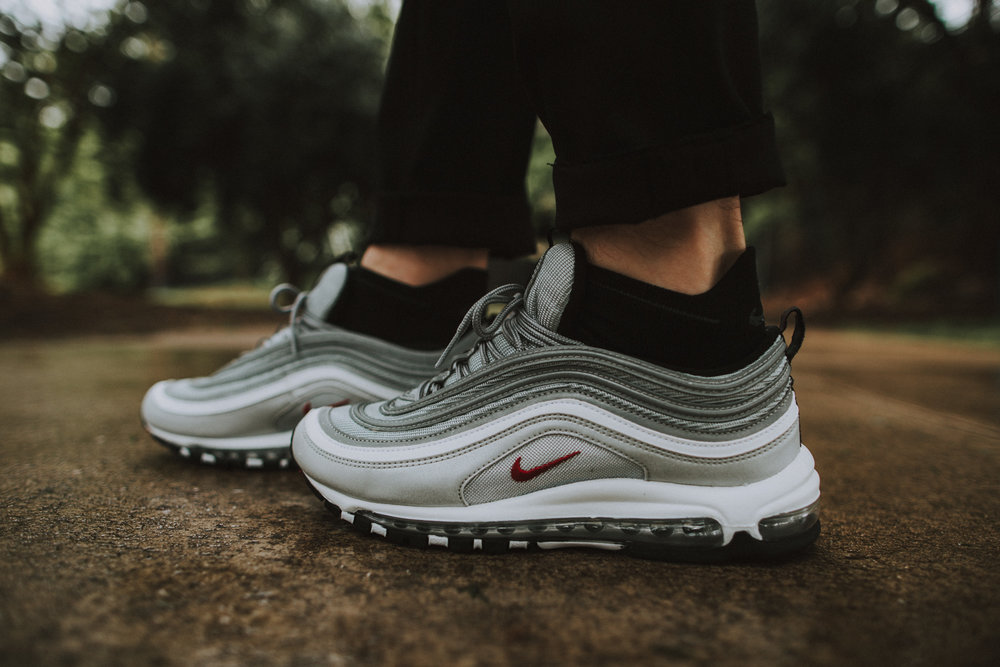 Cheap Nike Air Max 97 OG QS Silver Bullet ON FEET