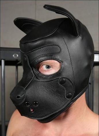 Puppy Hood leather black -wishlist item-
