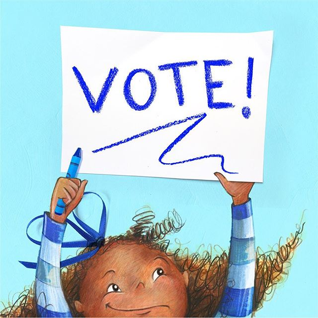 Hilda Hash knew blue was best, better sure than all the rest. And though she knows the system's broke, she checked the box to cast her vote. No matter hopeful, mad, or blue, she urges you to please vote, too!  #vote
