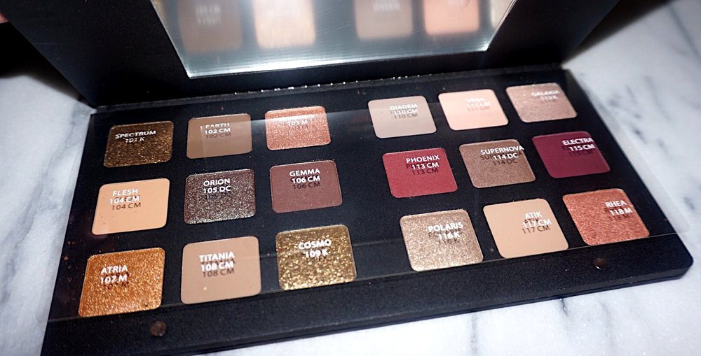 review natasha denona star eye palette kristine else