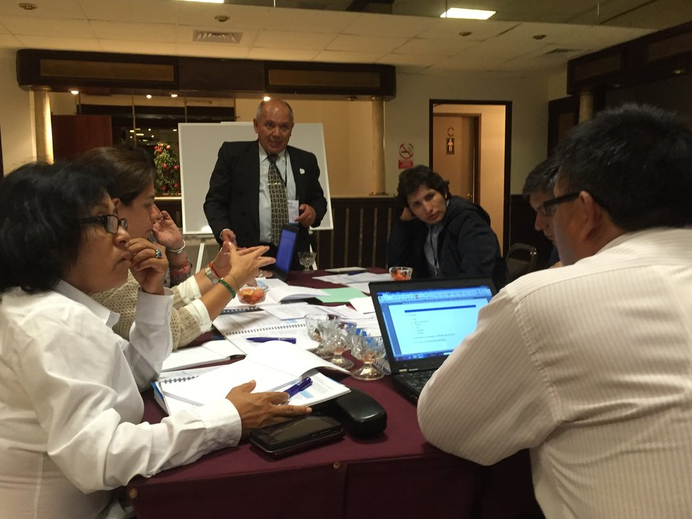 Break-out groups during the inception workshop in Lima, Peru on 30-31 May