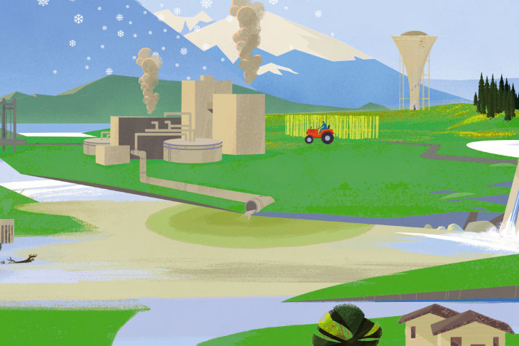 Wastewater from industry and agriculture can be detrimental to ambient water quality