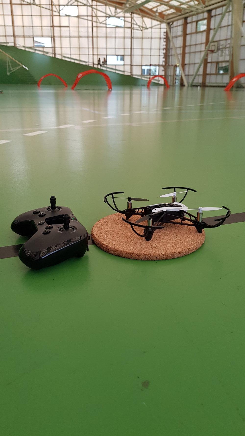 Opstilling til droneflyvning