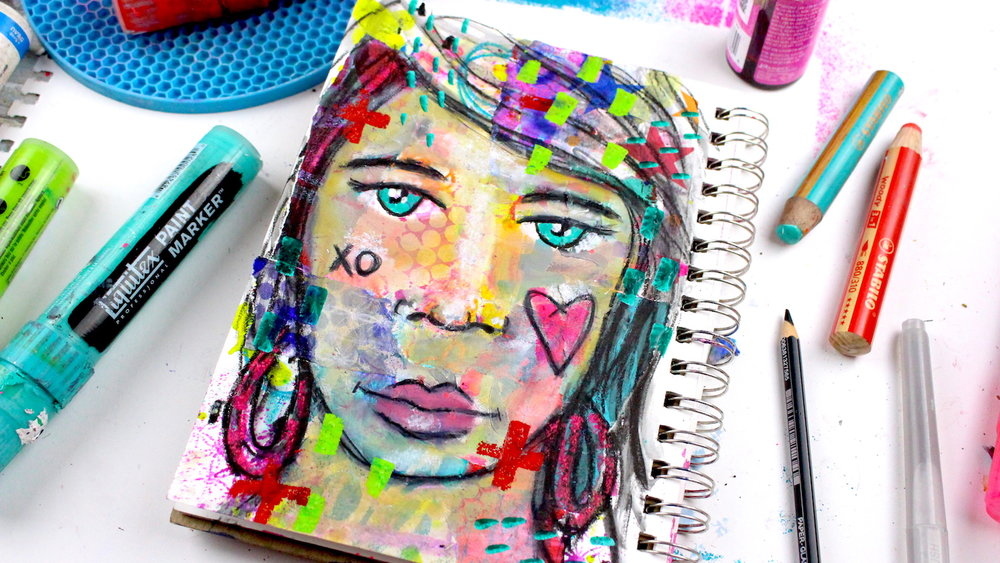 mixed media portrait workshop