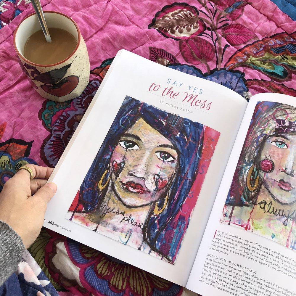 art journaling nicole austin