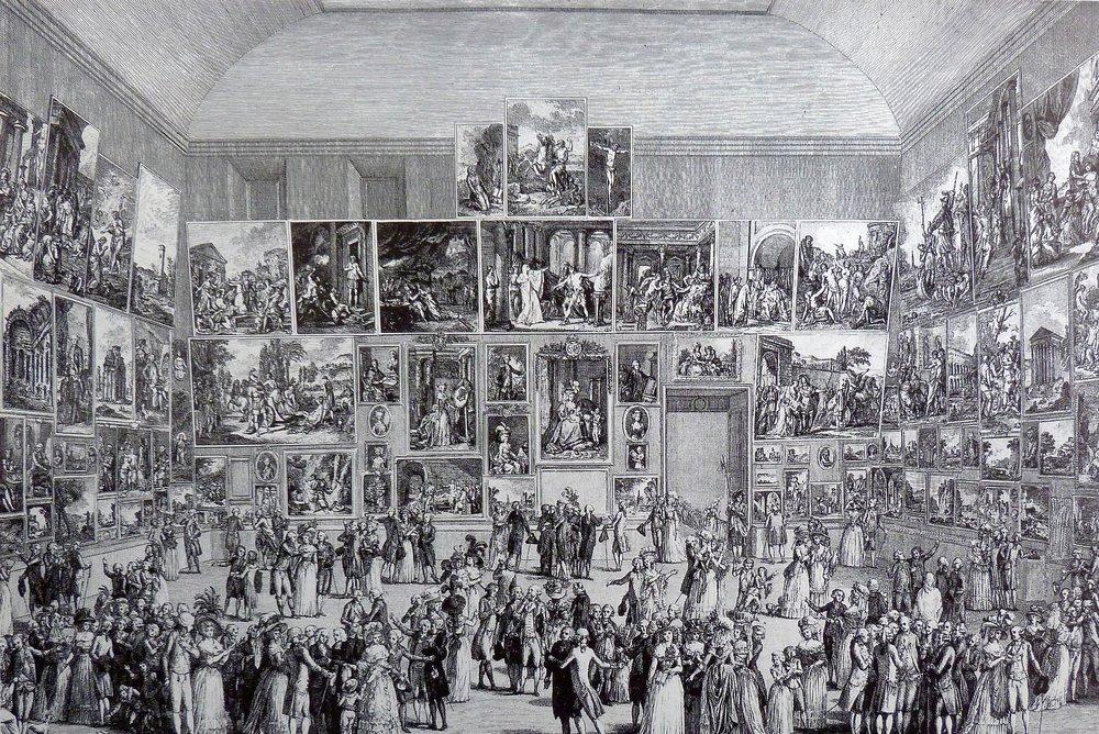 Pietro Antonio Martini - Salon du Louvre, Paris 1787