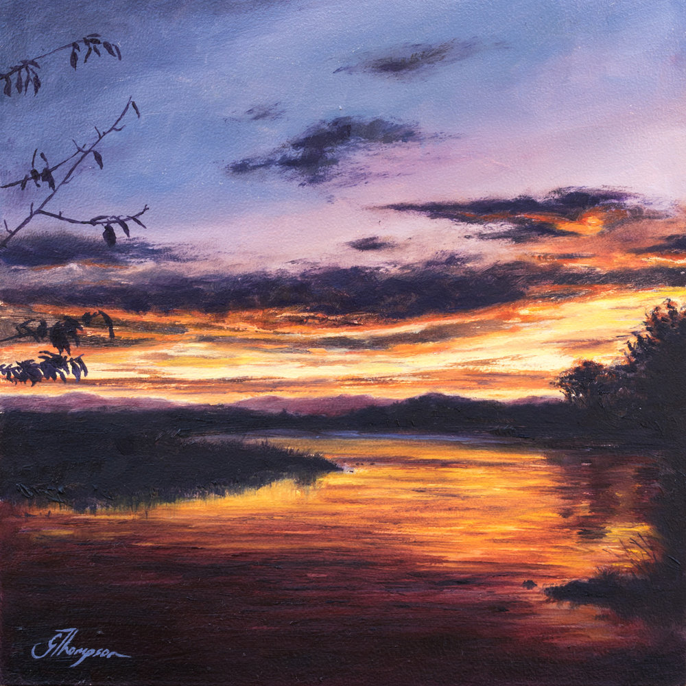 Sunset on Waitaki - SOLD