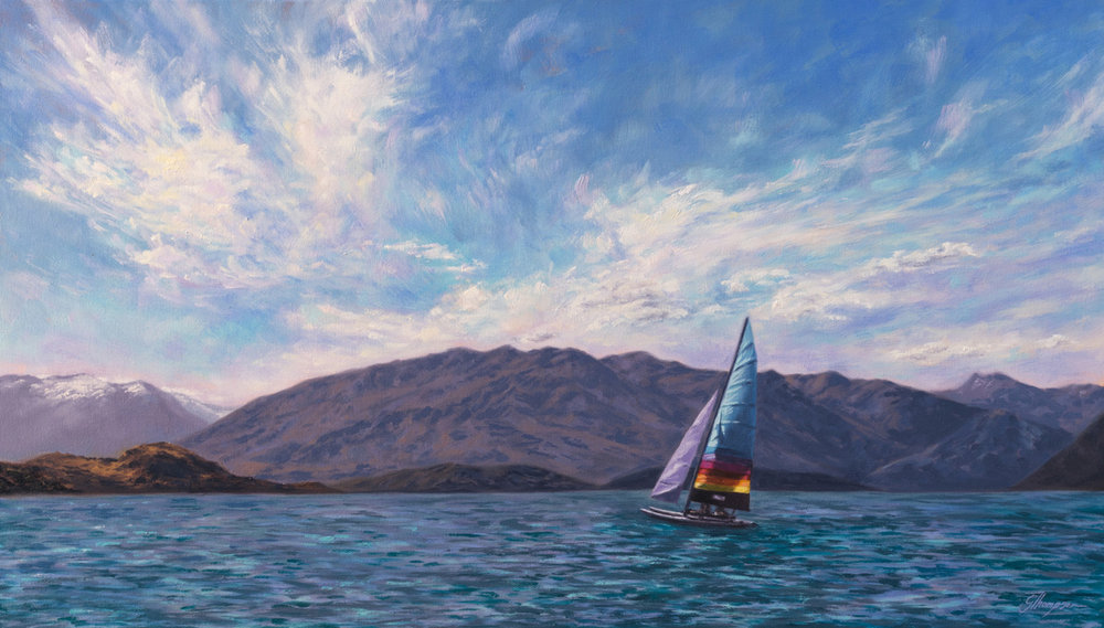 Sailing on Wanaka - Private Collection