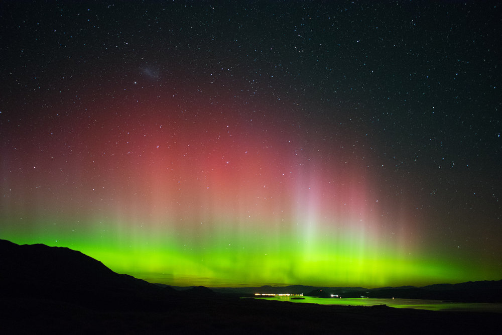 Aurora Australis over Lake Tekapo, New Zealand. April 22nd 2017.