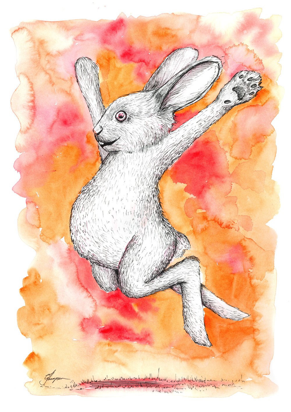 The Leap of Rabbit - SOLD