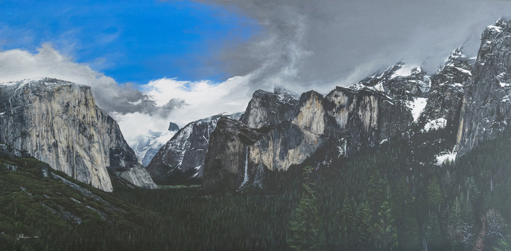 The final piece. Yosemite. 2011, Acrylic on canvas, 1016mm x 609mm (40 in x 24 in)