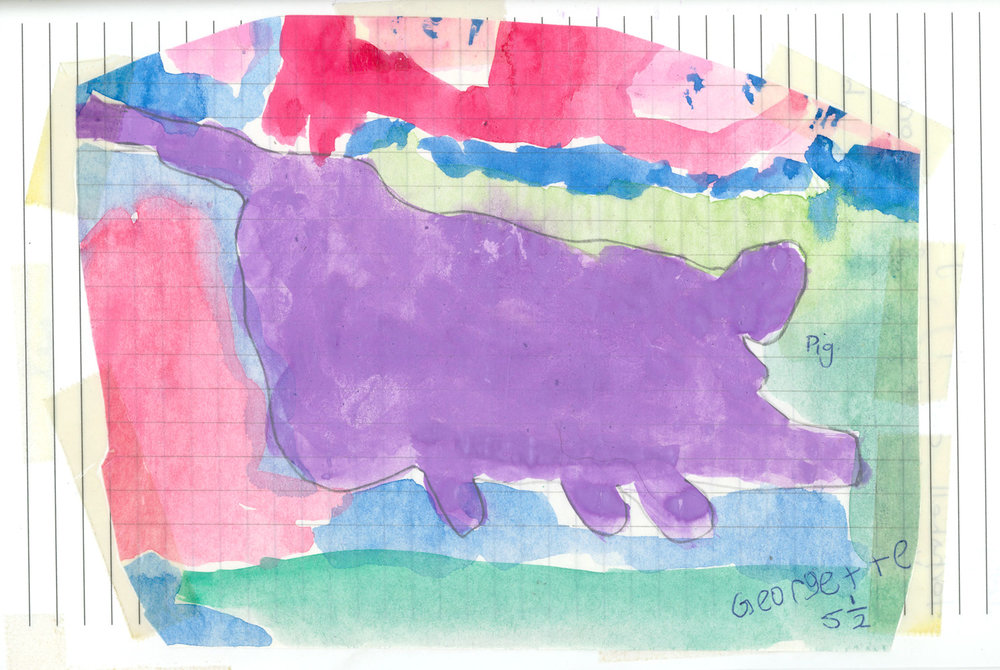Picking up on harmonise colours from a young age. Pig, aged 5 1/2 years.