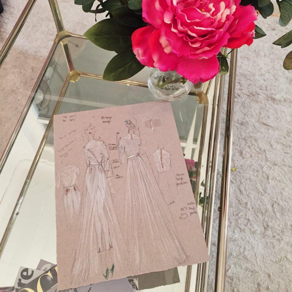 BOCETOS  EXCLUSIVOS para ti. - Diseñamosbocetos con diferentes propuestas para hacer tangible tu idea; nuestros bocetos son personales y exclusivos para ti, porque ninguna novia es igual.
