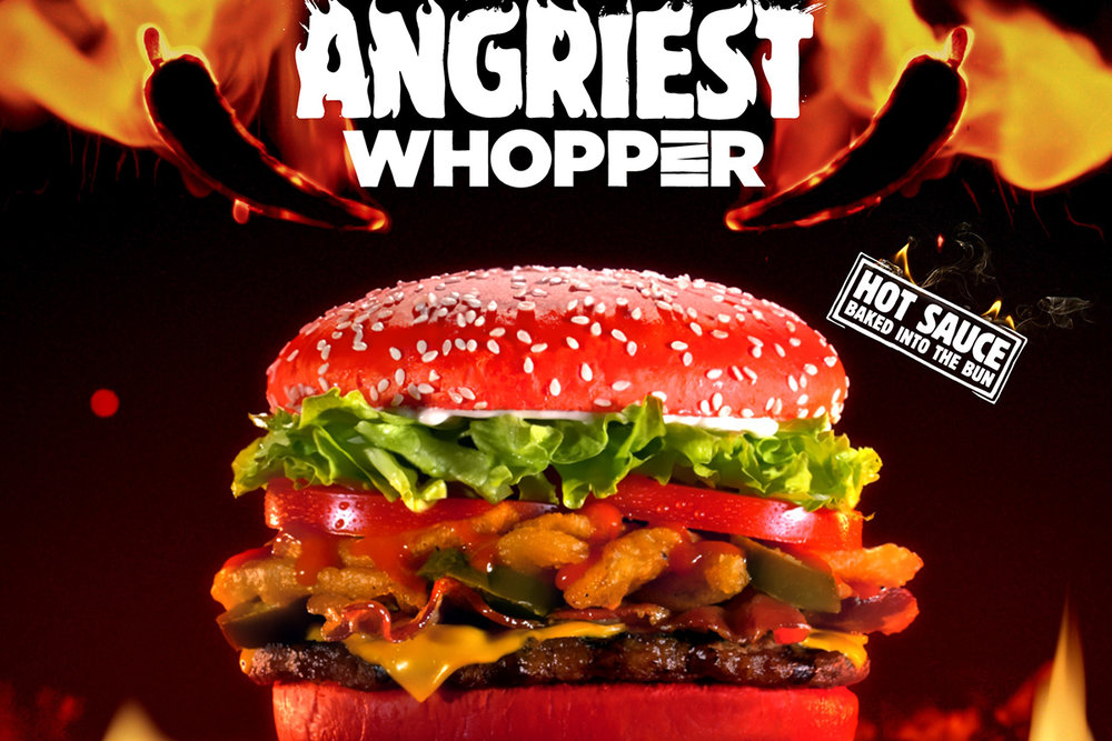 THE ANGRIEST WHOPPER BURGER KING