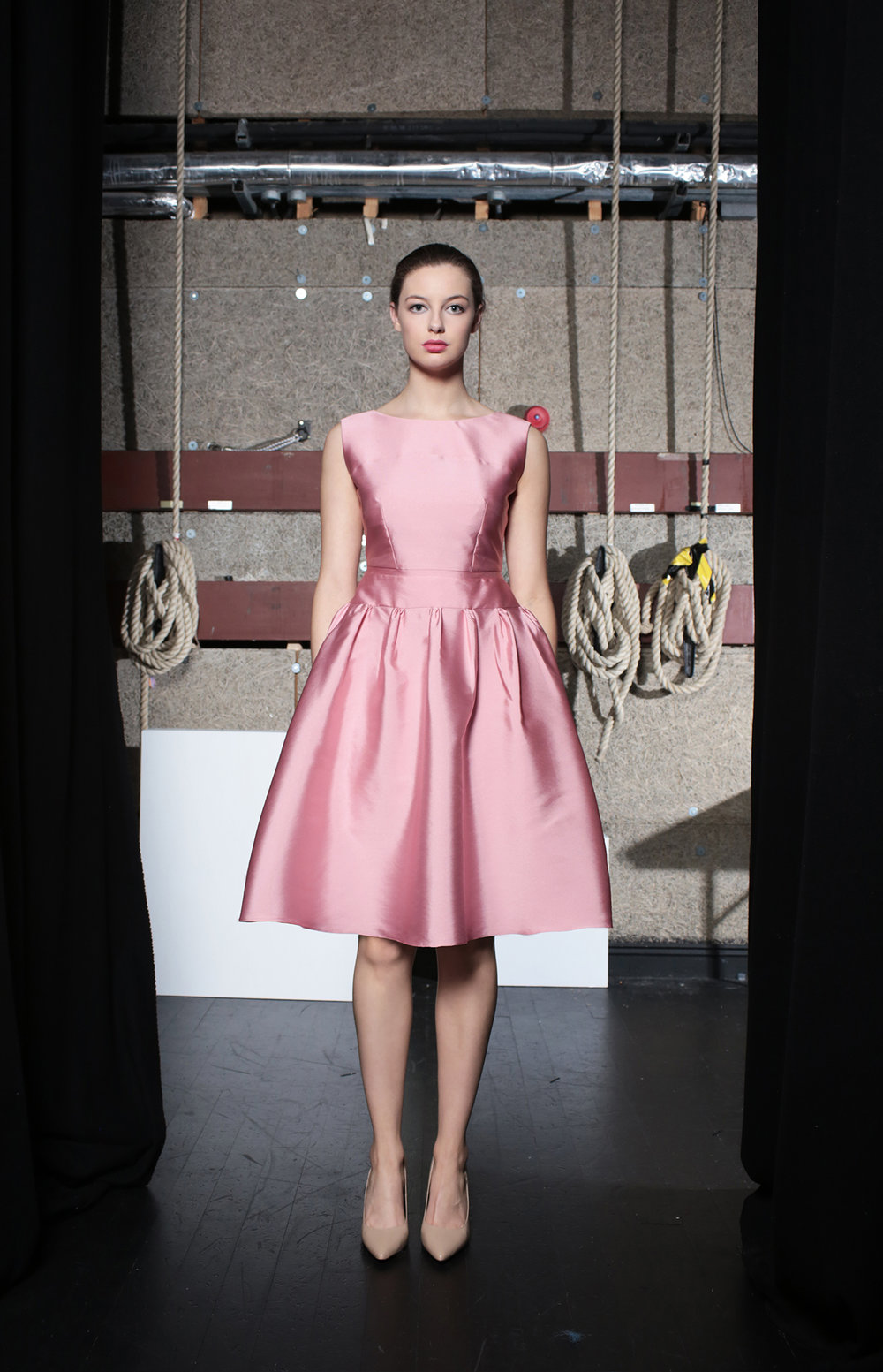 Suzy Dress Soft Pink Taffeta