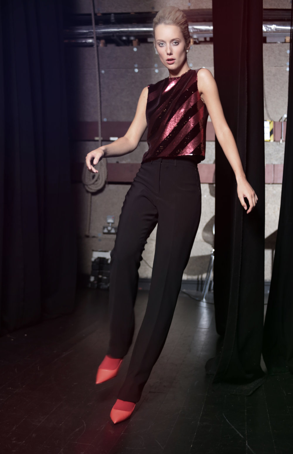 3. Heidi claret sequins top and Aya black trouser.jpg