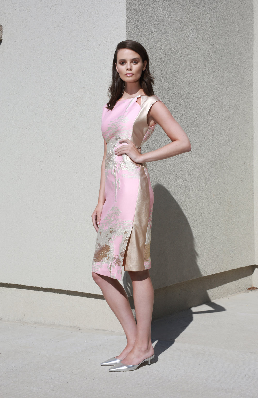 Sarah Dress in Pink and Gold €270.00