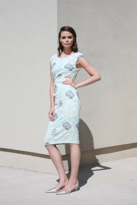 Hannah Dress in Azuer Flower €256.00