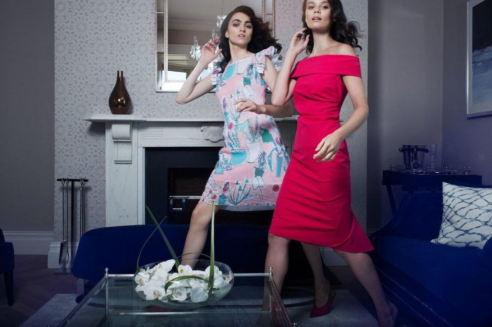 Courtney Dress in Poppy Lace €297.00  Collette Dress in Cerise €229.00