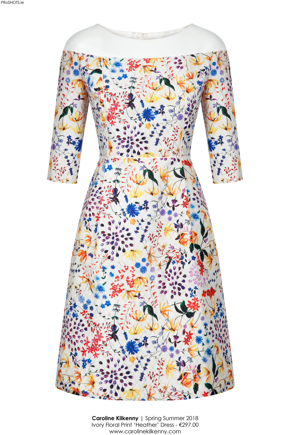 Caroline Kilkenny - Ivory Floral Print Heather Dress - High Res.jpg