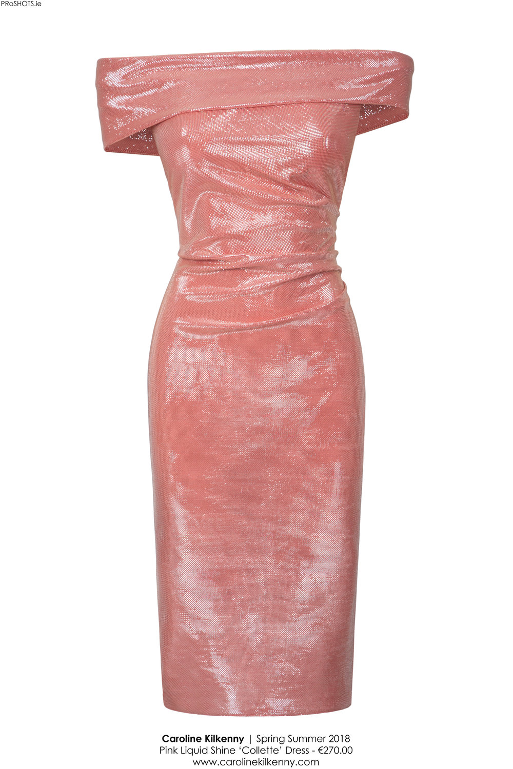 Caroline Kilkenny - Pink Liquid Shine Collette Dress - High Res.jpg