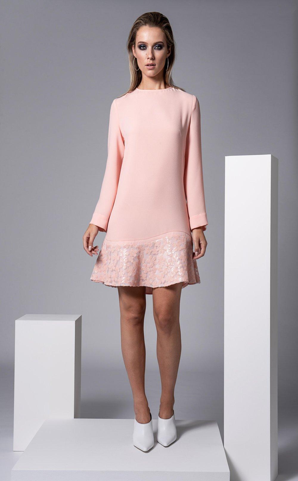 Barnes Dress in Blush Pink