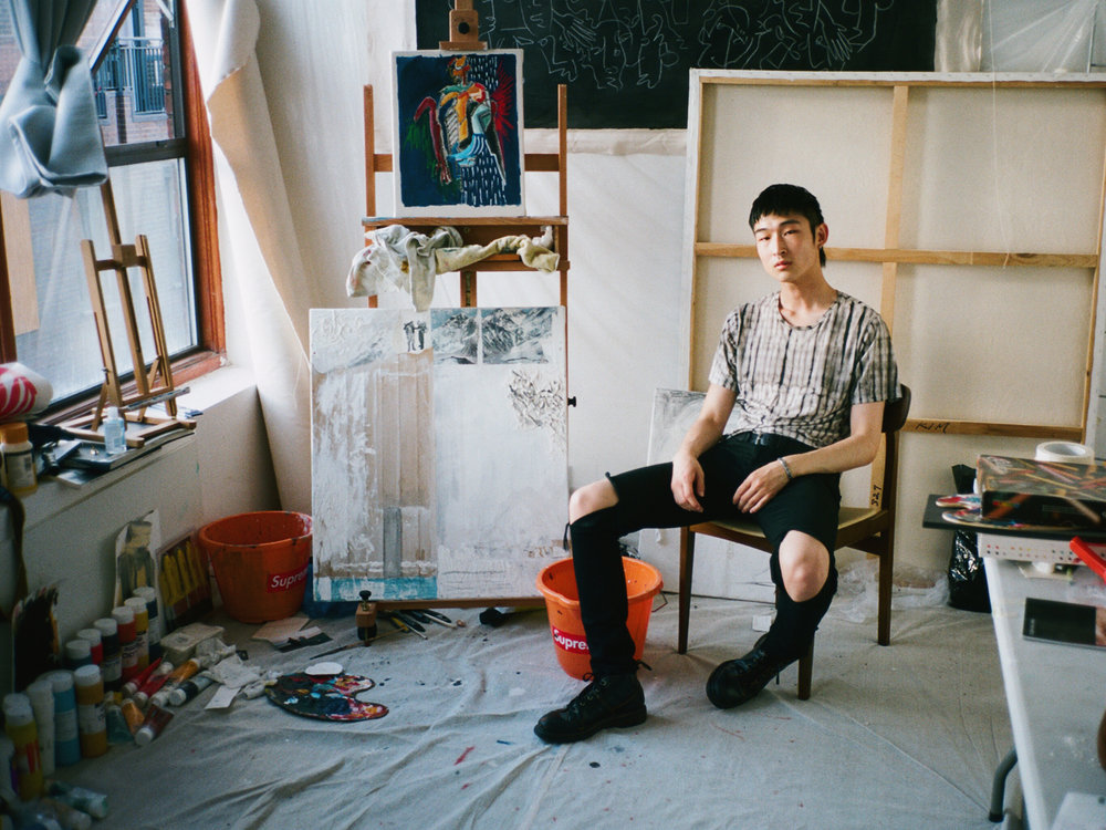 Sang Woo in his bedroom, 2016