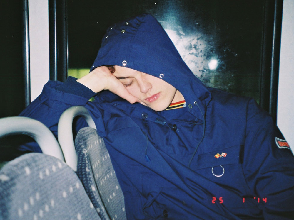 Asleep on the bus, 2014