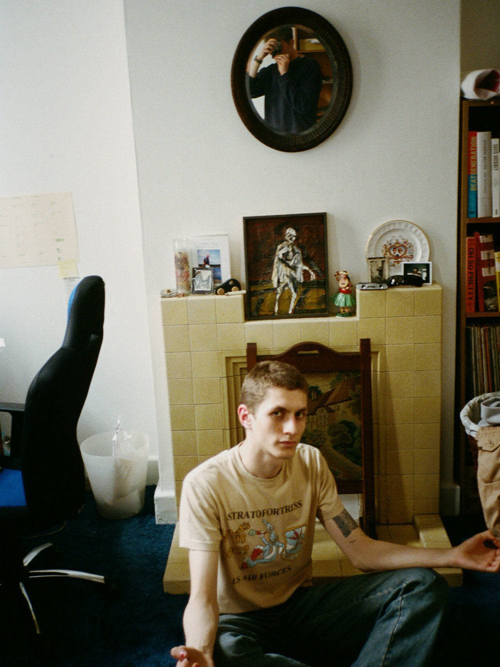 Henry & I in his bedroom, 2017