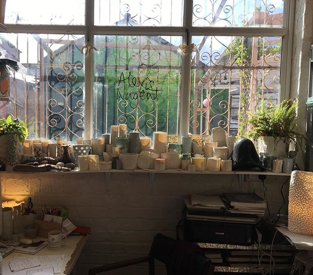 Lots of lovely light in my studio today.