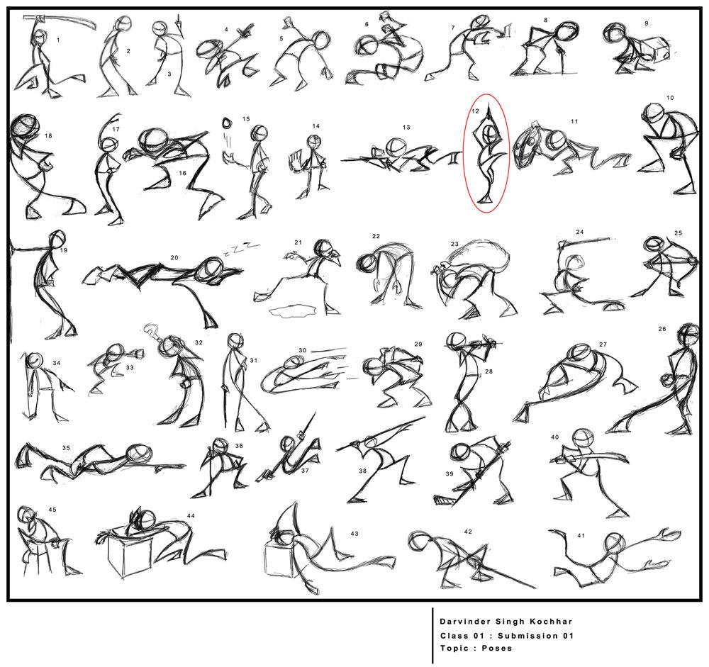 basic animation poses