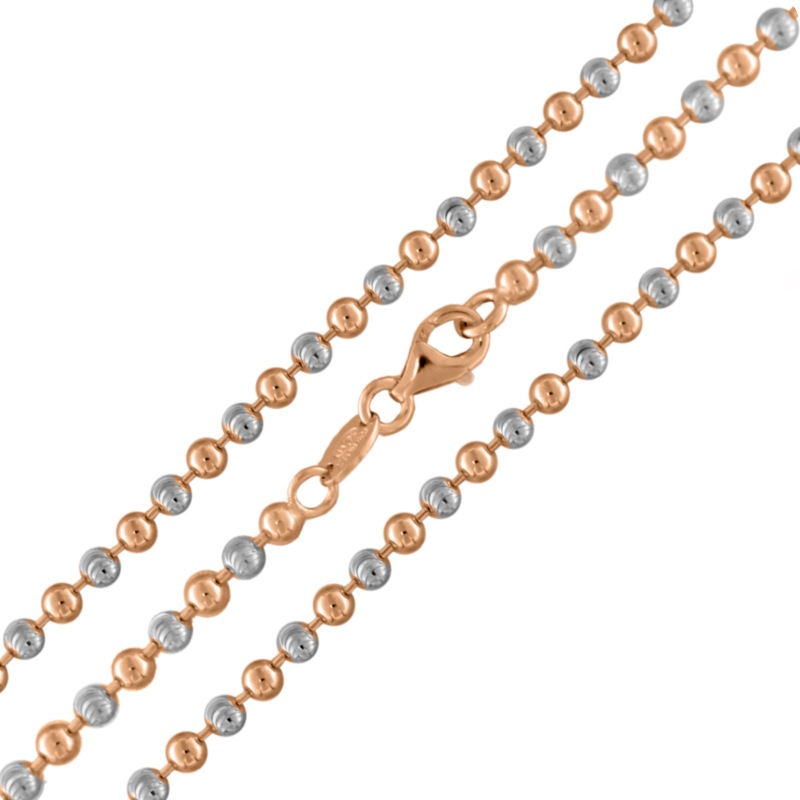 """""""TWO TONE BEAD"""" NECKLACE"""