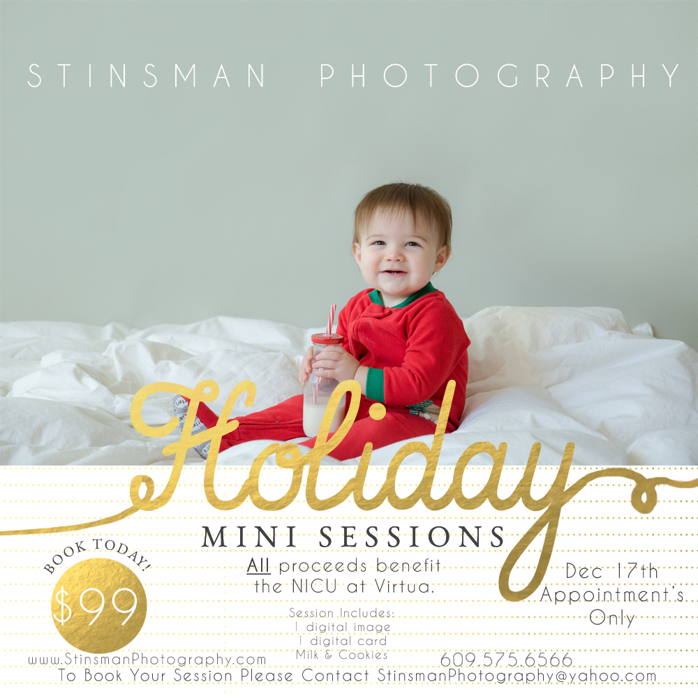 holiday mini session to benefit virtua NICU