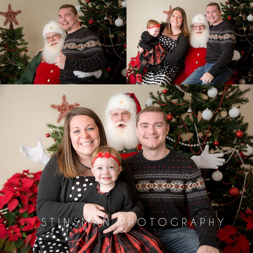 family photo with santa new jersey photographer
