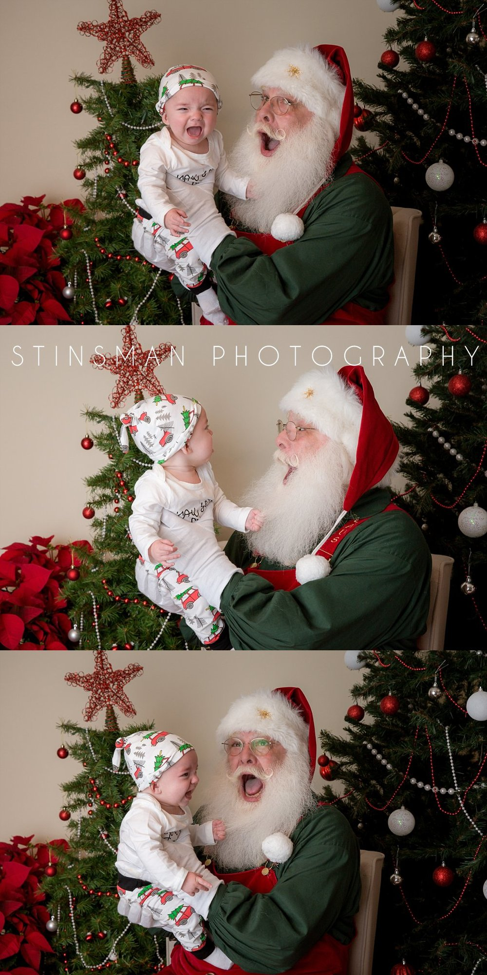 little boy not too sure about Santa south jersey photographer