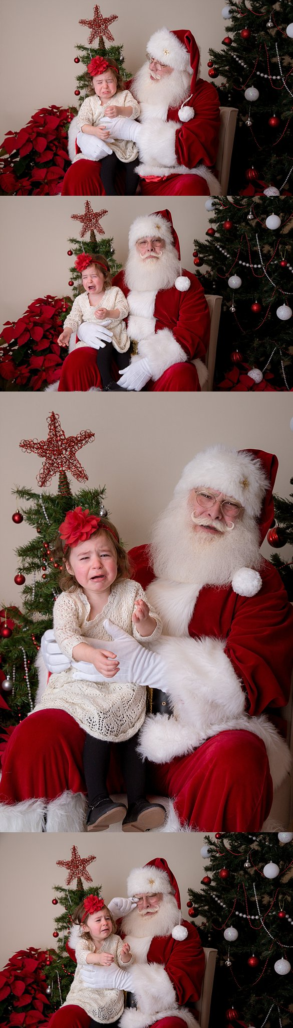 girl crying on santa's lap new jersey photographer