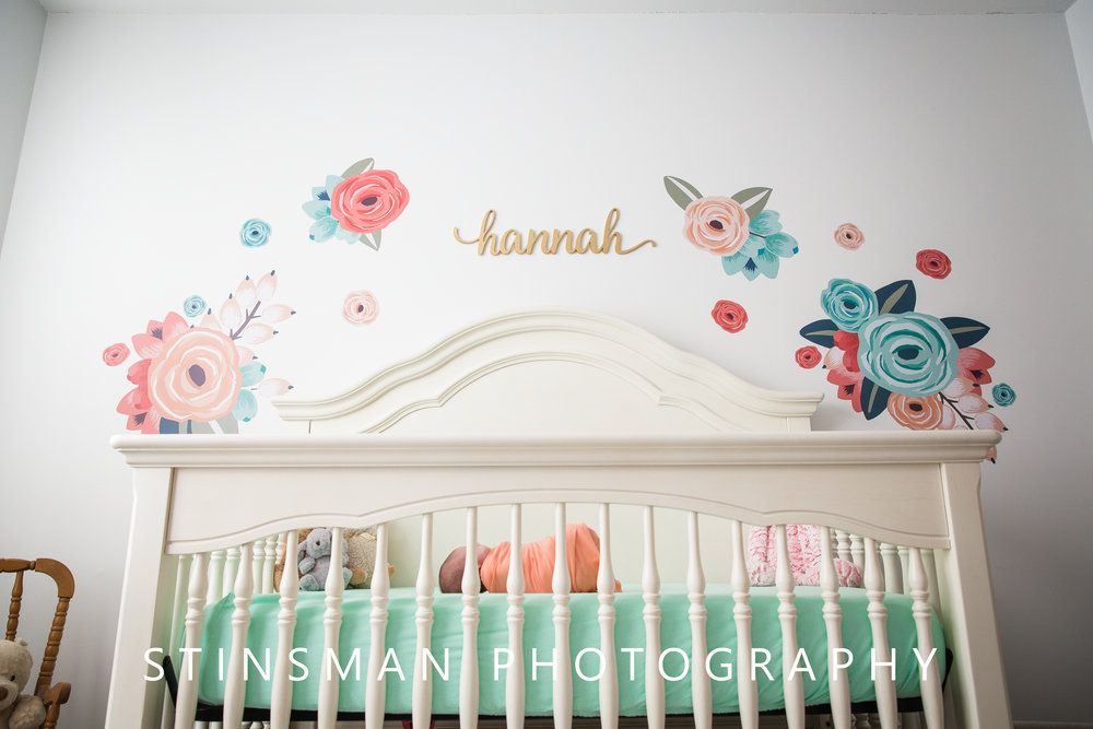 hannah joy in her crib