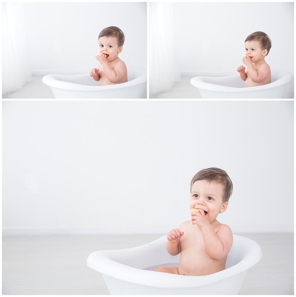 little boy laughing and splashing in the tub burington new jersey
