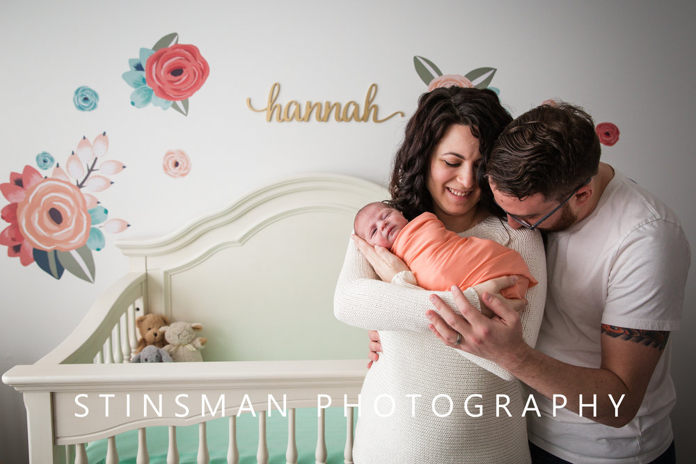 in home newborn photos with baby named Hannah in burlington and robbinsville new jersey