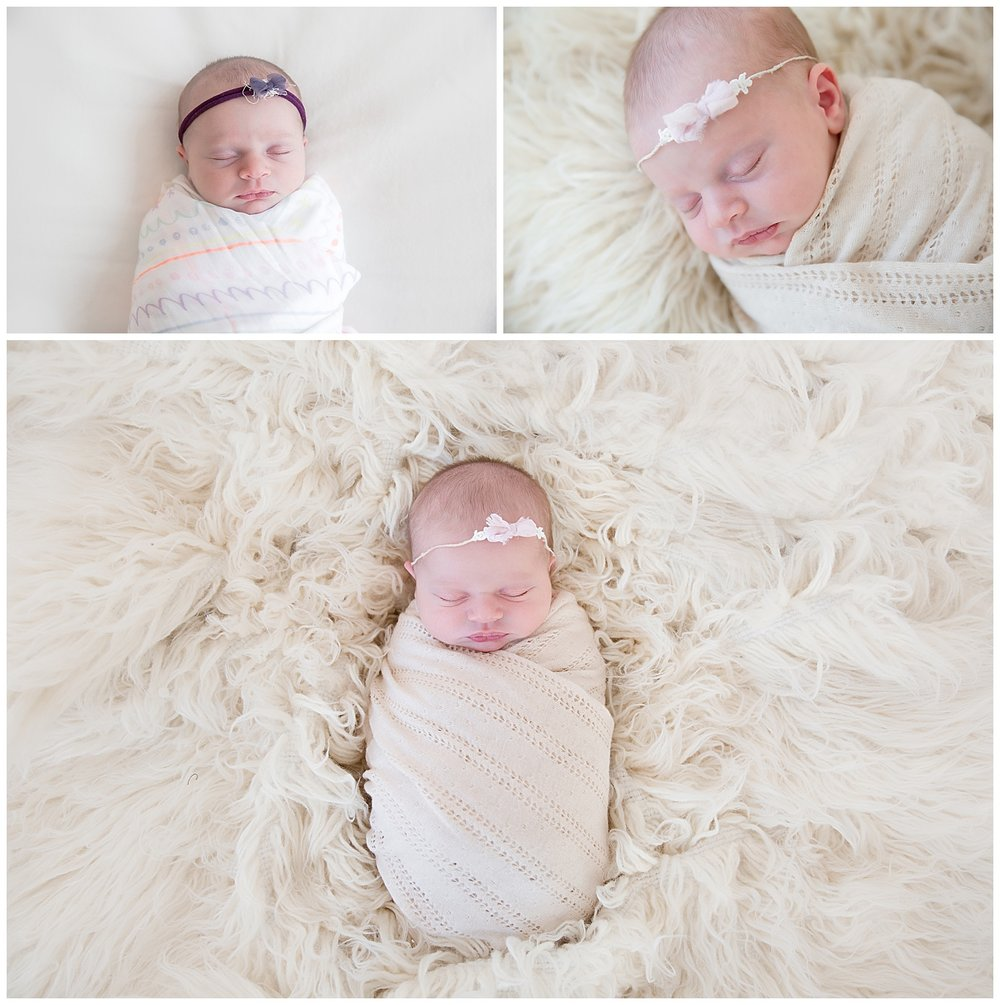 rainbow baby girl wrapped up in burlington new jersey photo shoot