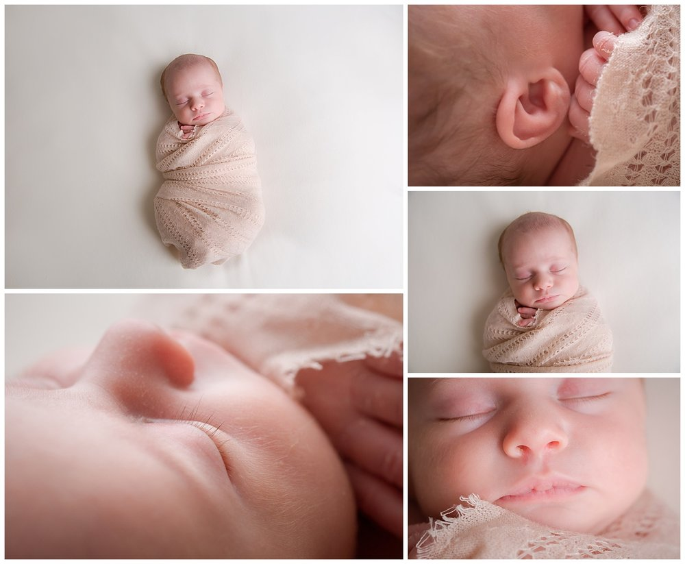 newborn baby girl details in burlington new jersey photo studio