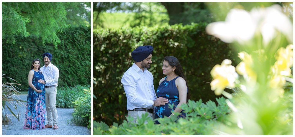 indian maternity photo shoot at longwood gardens in philadelphia pa
