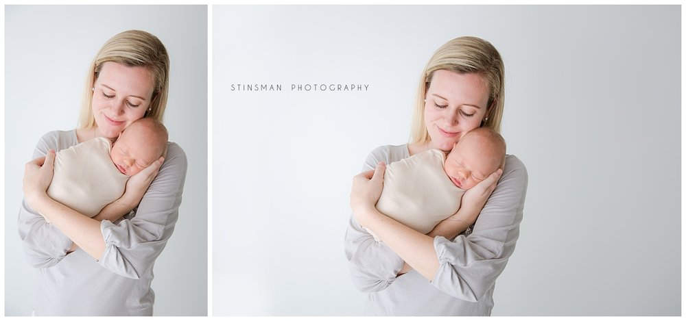 burlington new jersey newborn photographer mom and baby snuggling