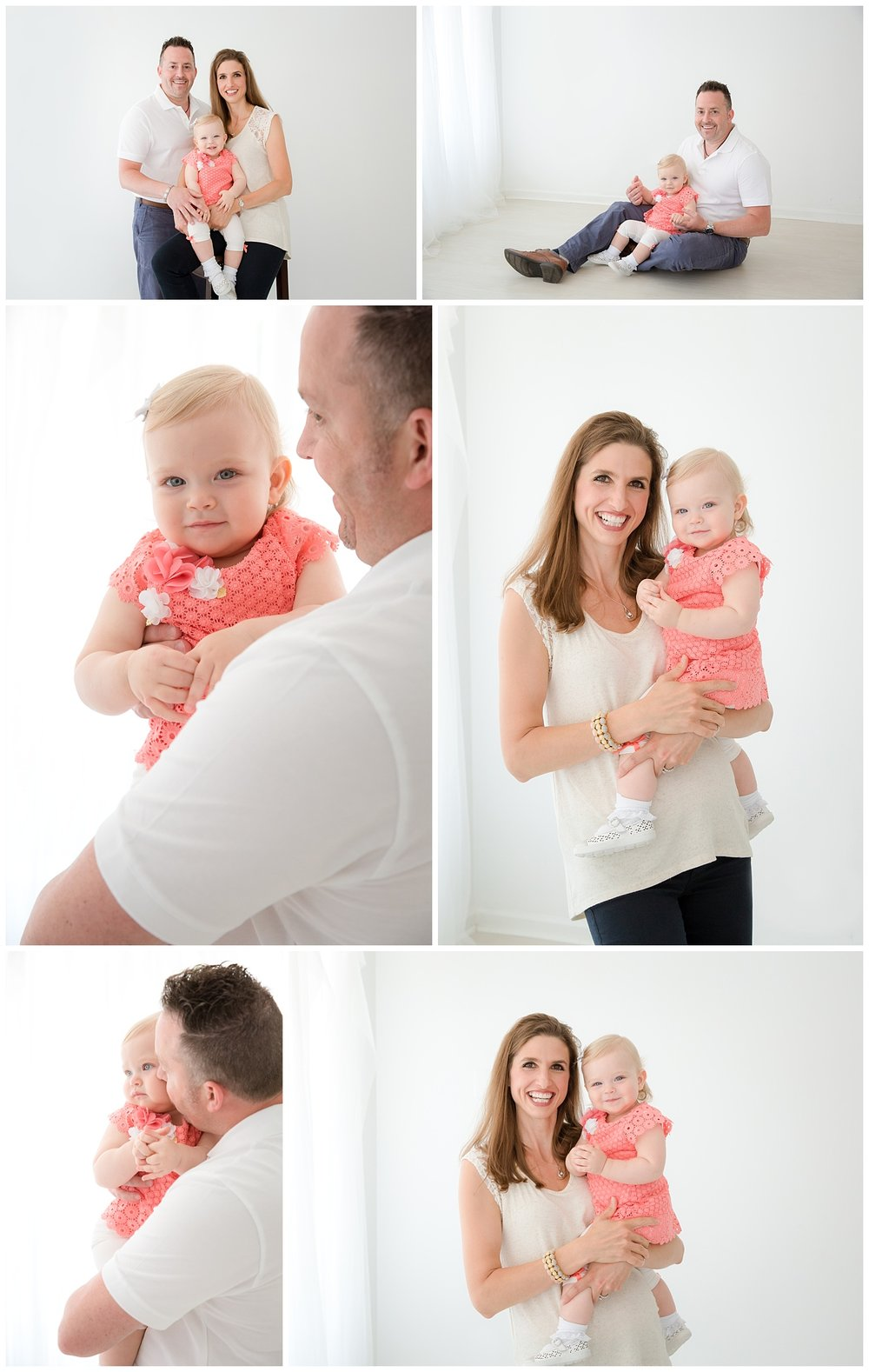 mom holding little girl in moorestown new jersey studio
