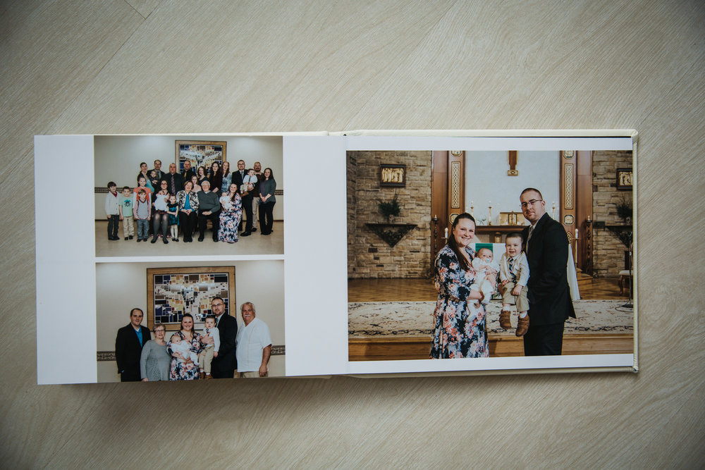 perfect custom album from a baptism in burlington nj moorestown