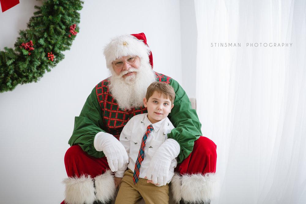 5 year old boy loved Santa at burlington new jersey studio