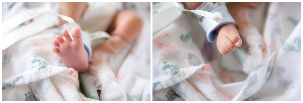 tiny little baby toes at cooper university hospital in new jersey