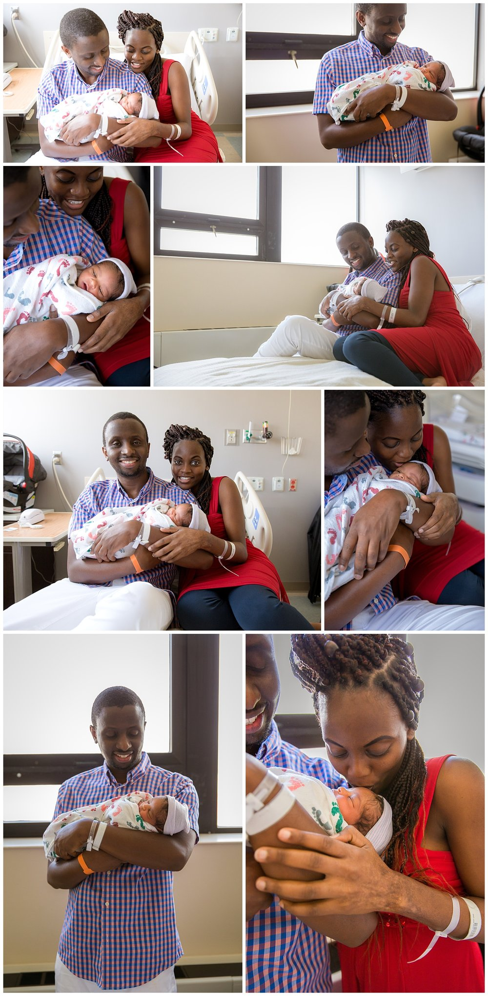 mom and dad holding their newborn baby boy at cooper university hospital in camden new jersey newborn photographer